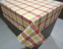 Yellow Checkered Decorative Table Cover