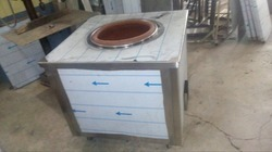 Square Stainless Steel Tandoor, For Restaurants,Commercial Kitchen, Capacity: 900 X 900 X 900 Mm