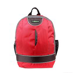 Red & Brown Laptop Backpack Bag