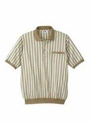 Banded Bottom Striped Shirt