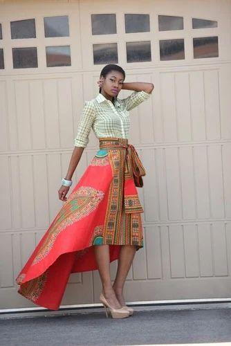 e5827ba15 Ladies Stylish Skirts - Yellow African Print Skirt Royal Java Skirt ...