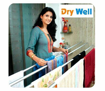 Dry Well Silver Pulley System Clothes Dryer, Capacity: 35kg