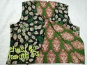 Women Sleeveless Kalamkari Reversible Jacket, Size: S, M & L