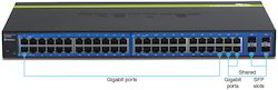 Black LAN Capable Networking Switches 48 Port