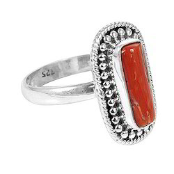Natural Jewelry New Designs 925 Sterling Silver Cab Round White Pearl /& Red Onyx Ring