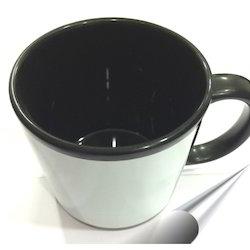 Black Mug White Patch