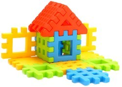 Fair Multicolor Happy Home Box Packing Building Blocks Early Learning Toy