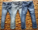 Mens Blue Faded Denim Jeans, Size: 28-34