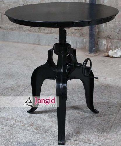 Indian Industrial Crank Dining Table