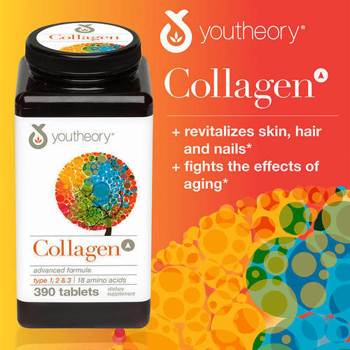 capsules Youtheory Collagen Advanced Formula, 390 Tablets, 390 Tablets  Pack, Packaging Type: Jar, Rs 4000 /pack | ID: 13483302362