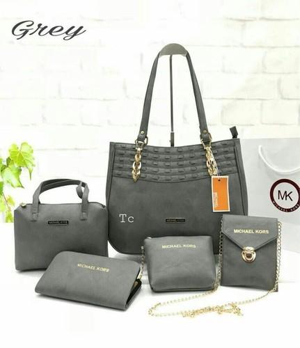 fe8b9c543fdf MK Grey And Brown Hand Bags