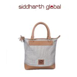 Linen Leather Tote Bag