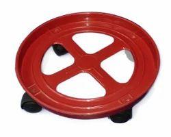 Red Gas Cylinder Trolley
