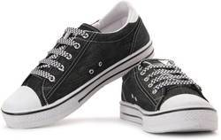 Sparx White Black Canvas Sneakers at Rs