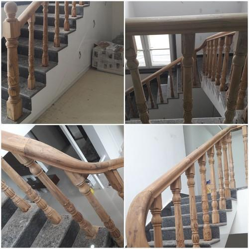 Bar Cable Wood Staircase Railings