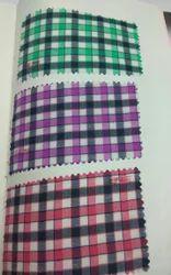 Shirting Fabric three colour matching PC Checks/ Lining 58 Inch, GSM: 100-150