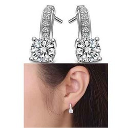 925 Sterling Silver Moissanite Earring At Rs 5555 Pair Id 12930396888
