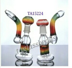 Colored Oil Glass Bubbler