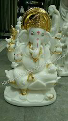 Marble Ganesha Murti Idol