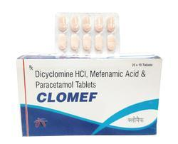Dicyclomine HCL Mefenamic Acid and Paracetamol Tablets