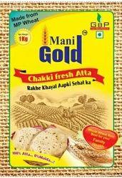 Mani Gold 1 Kg Chakki Fresh Atta, Packaging Type: Bag, 3 Month