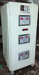 340 - 480 Volt 30 Kva Three Phase Air Cooled Servokon Voltage Stabilizer, For Commercial, With Surge Protection