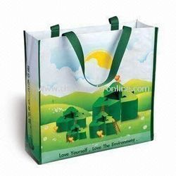 PP Woven Fabric Laminated Shopping Bags, Capacity: 50 KG