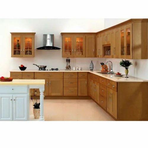 L Shaped Modular Kitchen Service: L Shaped Modular Kitchen At Rs 40000 /unit