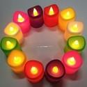 6 Colourful LED Diya Set DD201