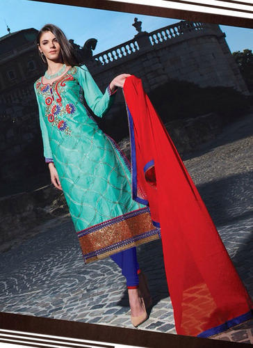 ff0f2c4269 Long Straight Cut Suit at Rs 999 /piece | Long Straight Suit | ID ...