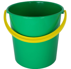 Green And Yellow Plastic Buckets, Capacity: 20 Litre