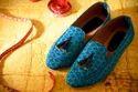 Silk Ikat Fabric Loafers