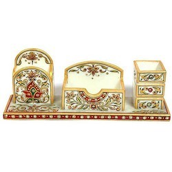 Marble Pen Stand N Visiting Card Holder MB044