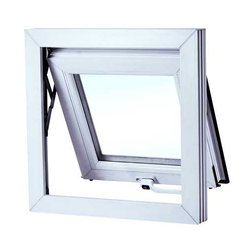 White UPVC Top Hung Window, for Home and Residential