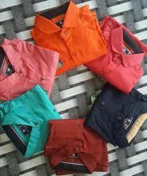 Cotton, Linen Checked , Plain Men'S Casual Shirts, Size: 38, 40, 42