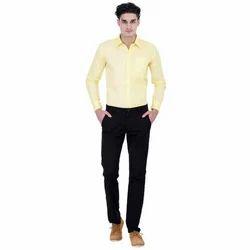 Men Plain Formal Cotton Shirt