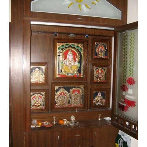 Wooden Pooja Room Cabinet At Rs 1400 Square Feet S