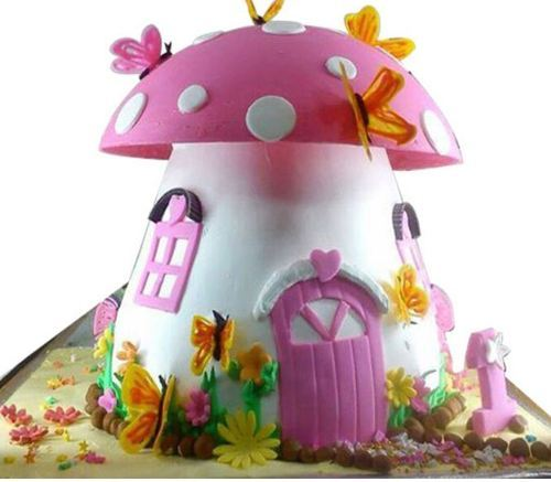 Marvelous Mushroom House Cream Cake At Rs 4500 Unit Cakes For Occasions Personalised Birthday Cards Beptaeletsinfo