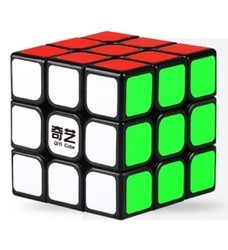 3x3 QIYI Black Background 3D Puzzle Educational Brain Teaser