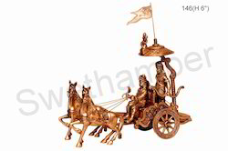 Antique Finish Krishna Arjun Rath, For Interior Decor