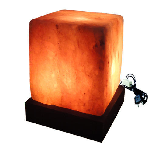 Antique Square Rock Salt Lamp