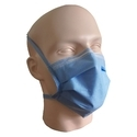 Blue Disposable 3 Ply Tie On Sms Fluid Repellent Surgical Mask, Size: 175 X 95 Mm
