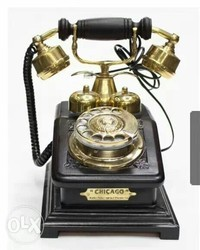 Black And Golden Telephone
