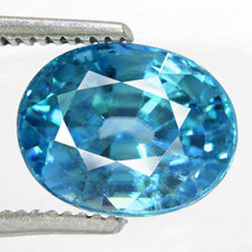 Blue Zircon Gemstone White Zircon Precious Gemstone