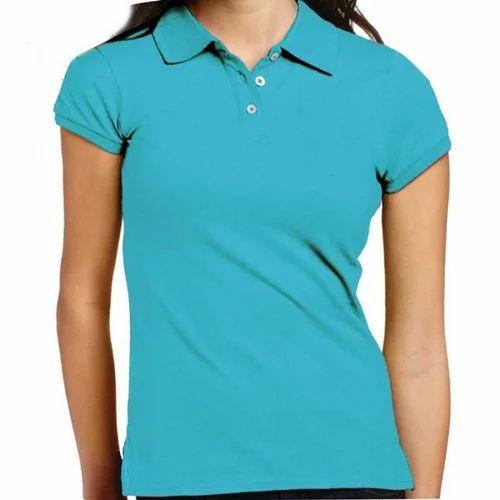 7e6510cd Blue Casual Ladies Plain T-Shirt, Rs 280 /piece, Cherry Blossom ...