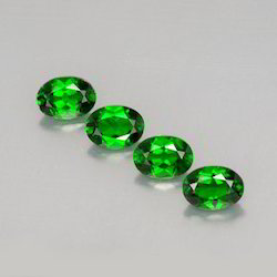 Oval Chrome Diopside Stones