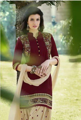 bdecdc454b KVS Fab Cotton Punjabi Patiala Suit, Handwash, Rs 1050 /set(s) | ID ...