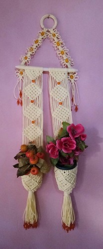 Macrame Flower Wall Decorative Pieces at Rs 700 /piece | Home ...