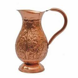 Copper Jug, Size: 18 Cm L X 14 Cm W X 24cm H
