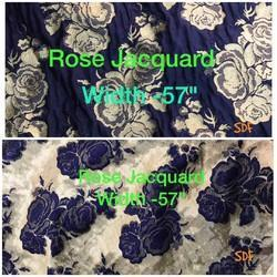 Rose Jacquard Fabric Crushed